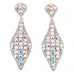 AB Crystal Earrings, 75mm Drop Swarovski Crystal