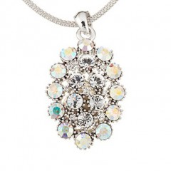 AB Swarovski Crystal Cluster Necklace