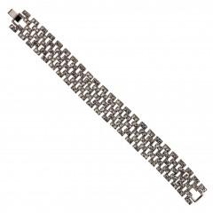 Black Crystal Linked Bracelet