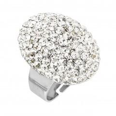 Regal Oval Cluster Ring by Gemini Jewellery, Swarovski Crystals