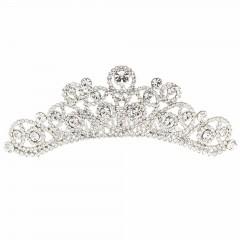 Swarovski Crystal Abstract Pear Drop Hair Comb Tiara, Clear Swarovski Crystal
