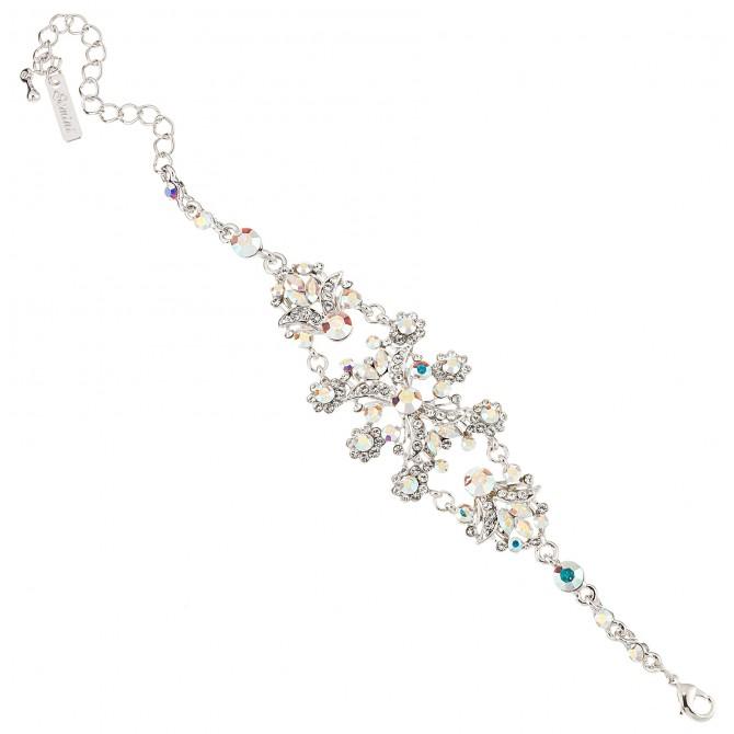 AB Clear Crystal Vintage Floral Bracelet