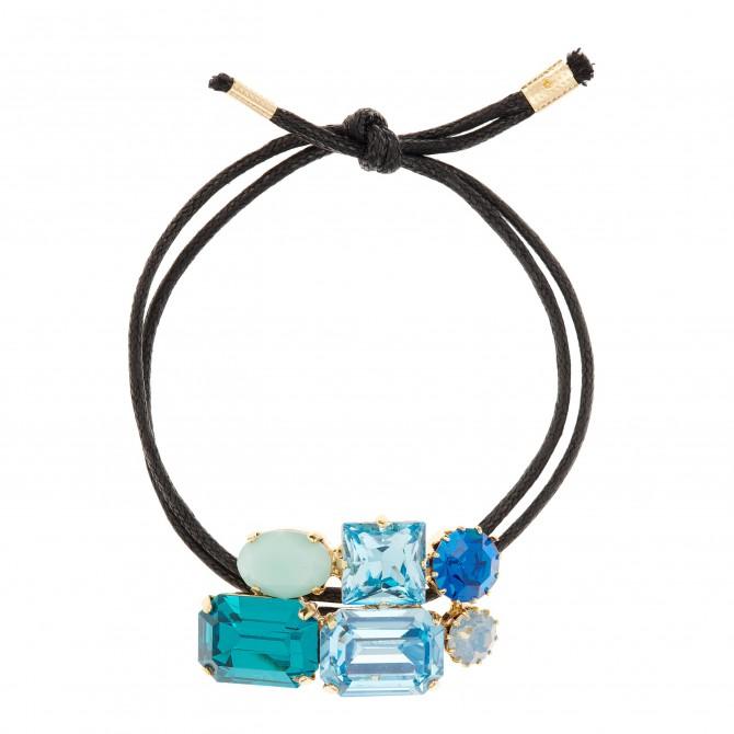 Martine Wester Crystal Craze Blue Bracelet_