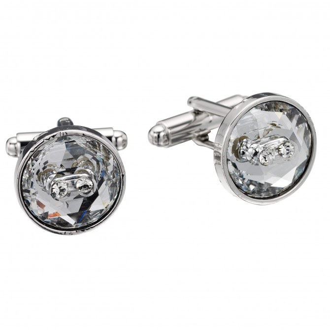 Swarovski Crystal White Diamond Cufflinks by Gemini London