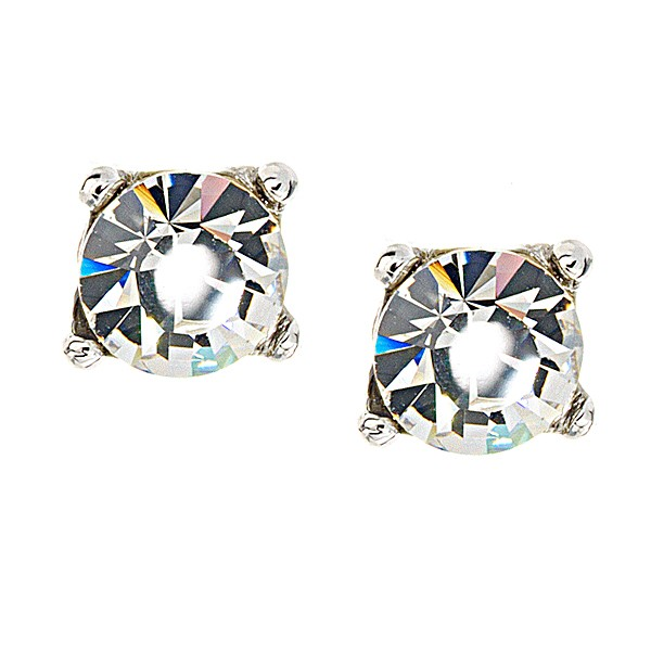 a2992a5b1 Clear Crystal Stud Earrings, White Diamond Swarovski Crystal - 9mm Diameter
