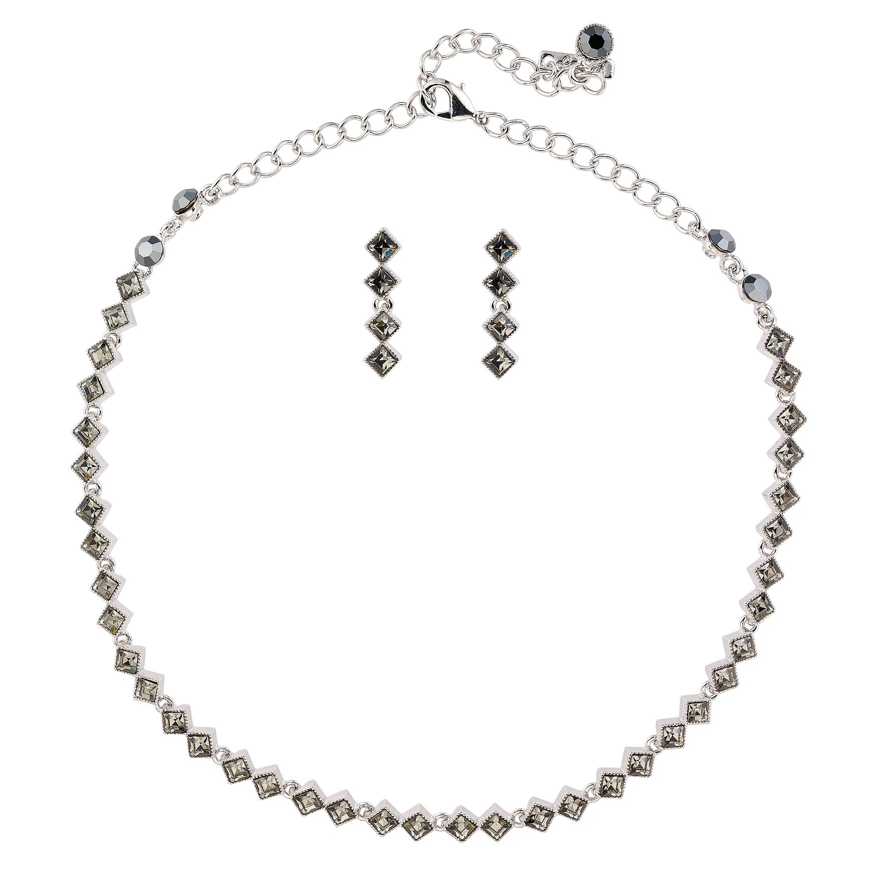 necklace white and with new j sarna clasp as diamond condition in beaded id gold l naomi jewelry black necklaces