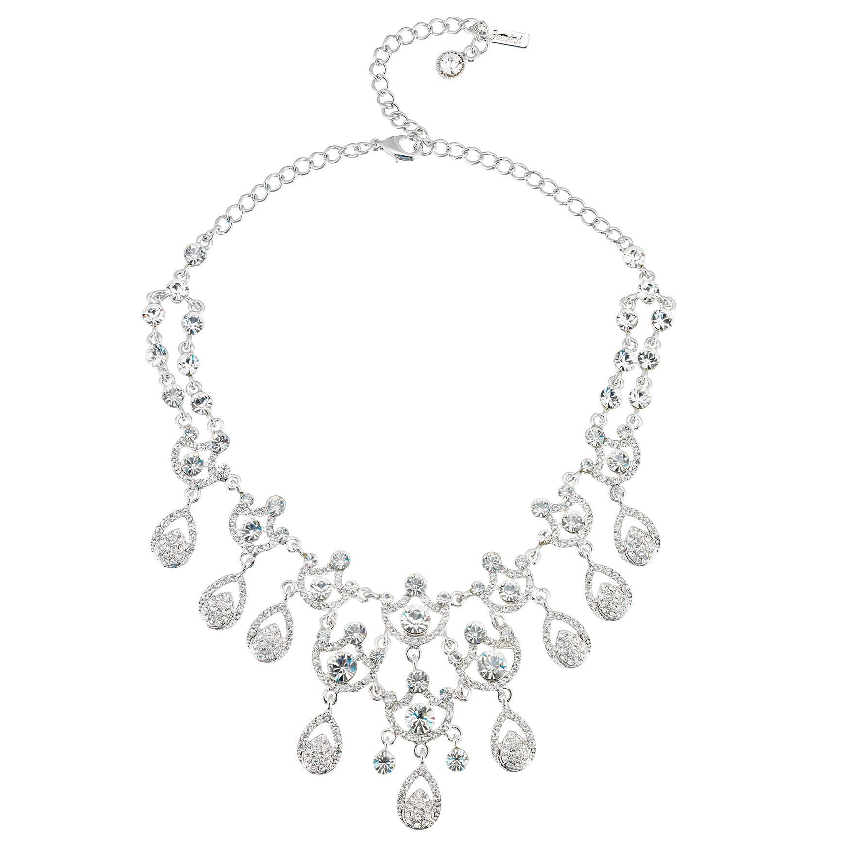 Swarovski crystal clear crystal necklace 9 ornate chandelier clear crystal necklace 9 ornate chandelier teardrop swarovski clear crystals aloadofball Choice Image