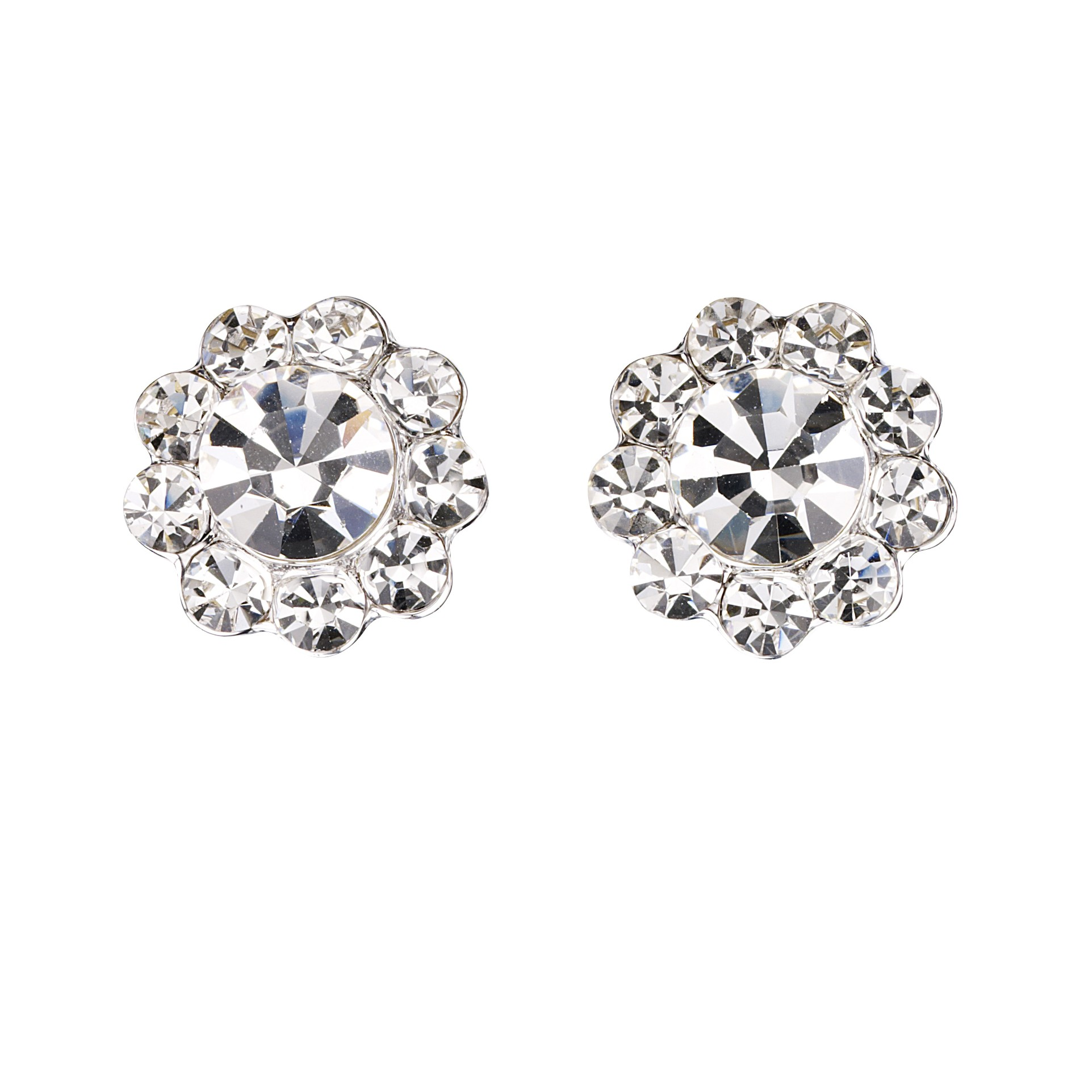 diamond gold flower earrings gifts white p stud small