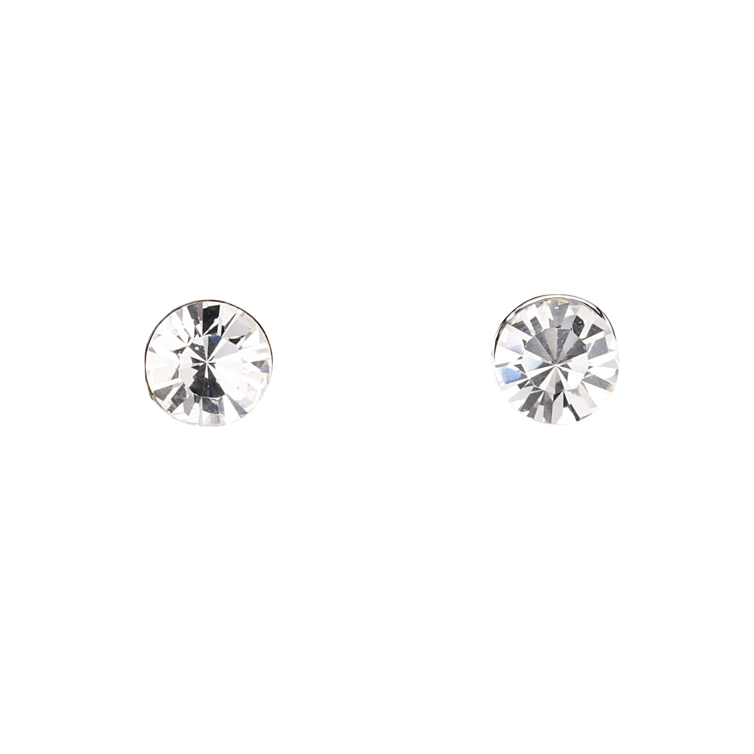 14f255b88 Gemini London Jewellery's Single 7mm Swarovski Stud Earrings - Made with Clear  White Swarovski Crystals,
