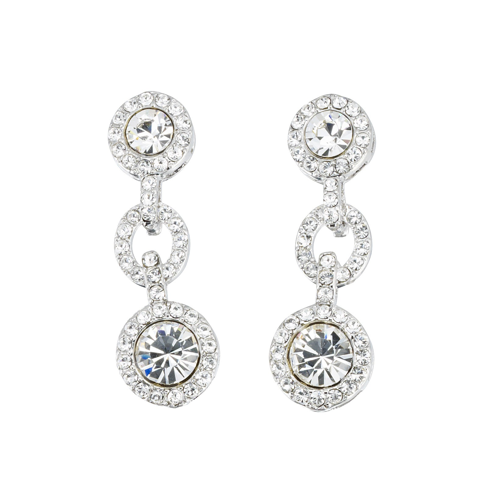 f338130fc91e7e Gemini London Jewellery s Crystal Link Earrings - Made with Clear White  Swarovski Crystals