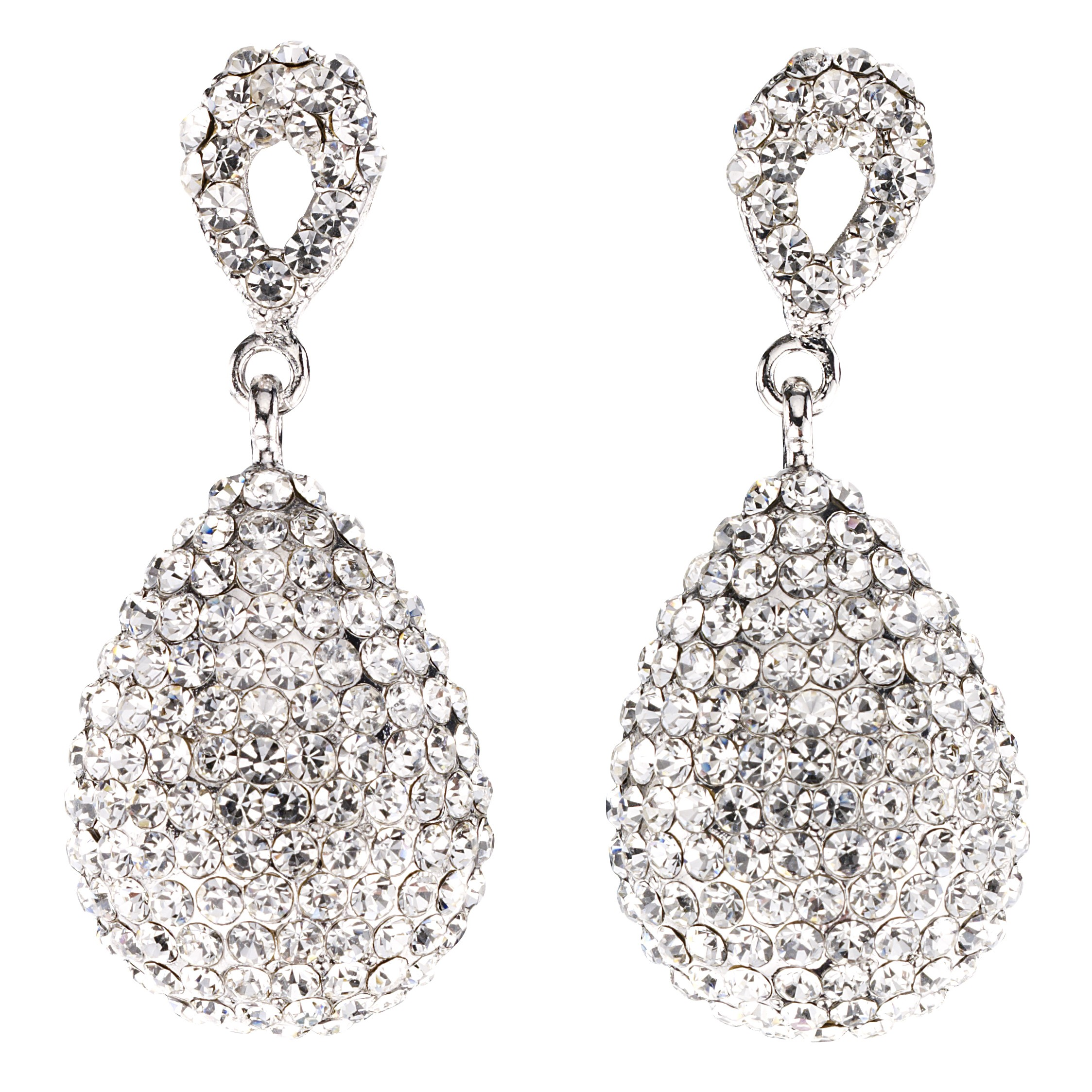 earrings silver round or crystal white stud gold itm zircon