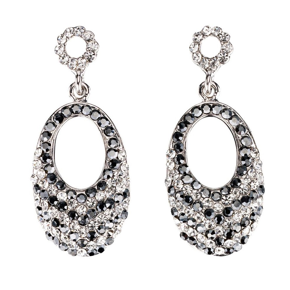 attract crystal earrings stud women reversible zoom white john jewellery swarovski greed