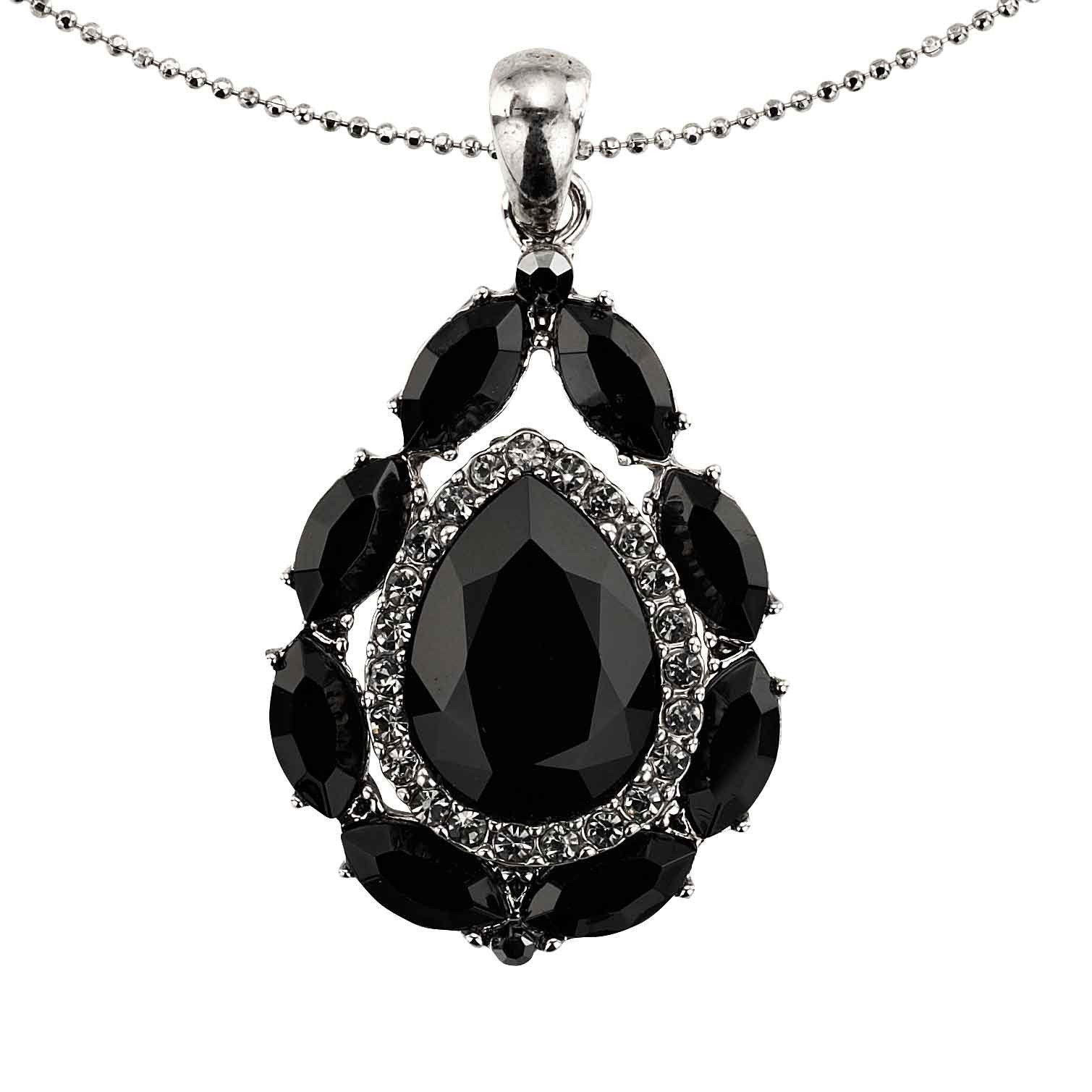 pendant crystal adjustable necklace rose swarovski birthstone chain kraneos shop with jewelry skull com