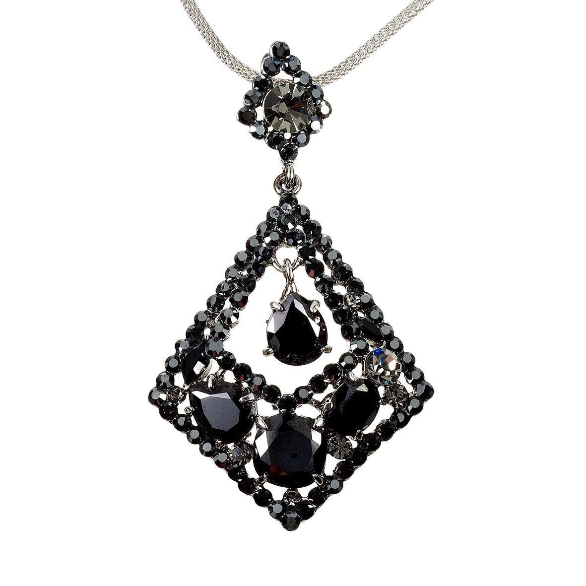 Swarovski Crystal Rhombus Diamond Swarovski Black Diamond