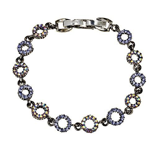 e8d75bbcd Blue Crystal Circle Bracelet, Tanzanite & AB Tanzanite Swarovski Crystals