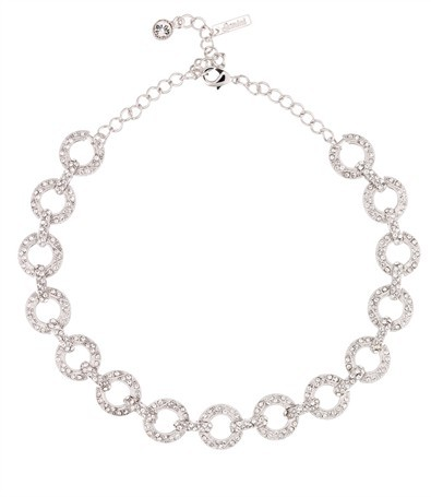 Circle link Swarovski Crystal Necklace