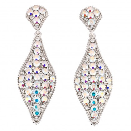 AB Crystal Earrings, 75mm Drop Swarovski Crystal