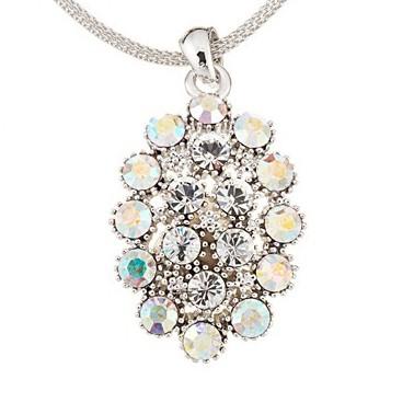 AB Swarovski Crystal Cluster Necklace