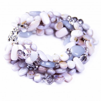 Beautiful, 6, bracelet, seaside inspired piece, natural stone, beads, crystals designer Bcharmd,  Newcastle upon Tyne, UK