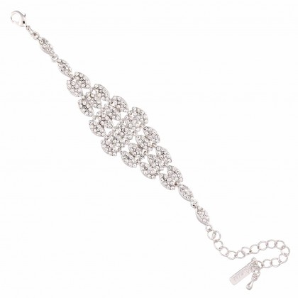 Clear Crystal Bracelet, Diamond Shaped