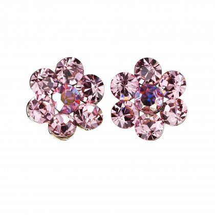 Swarovski AB Crystal Flower Stud Earrings - 18m Diameter