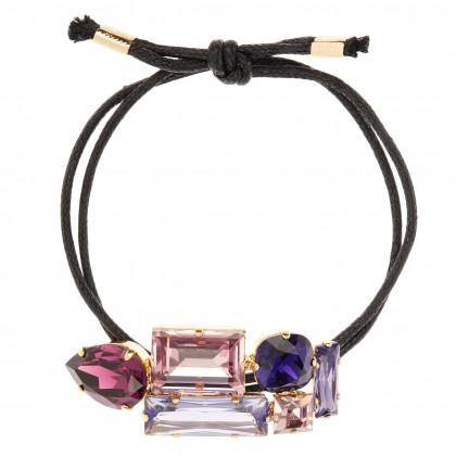 Martine Wester Crystal Craze Purple Bracelet