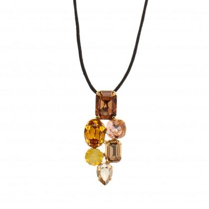 Martine Wester Crystal Craze Topaz Pendant Necklace Limited Edition
