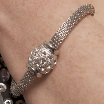 Mother's Day Gift - Swarovski Crystal Ball Bracelet with Front Magnet Fastening