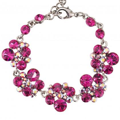 Pink Swarovski Crystal Chandelier Drop Bracelet