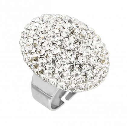 Regal Oval Cluster Ring by Gemini Jewellery, Swarovski Crystals