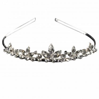 Swarovski Crystal Marquise Tiara, Clear White Diamond Swarovski Crystals