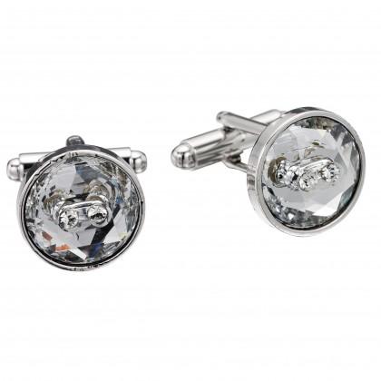 Swarovski Crystal White Diamond Cufflinks by Gemini London