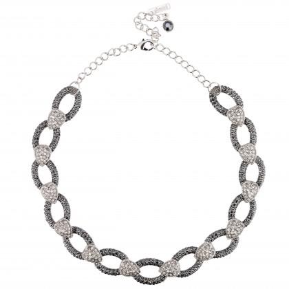 Swarovski Crystal Oval & Heart Dance Necklace