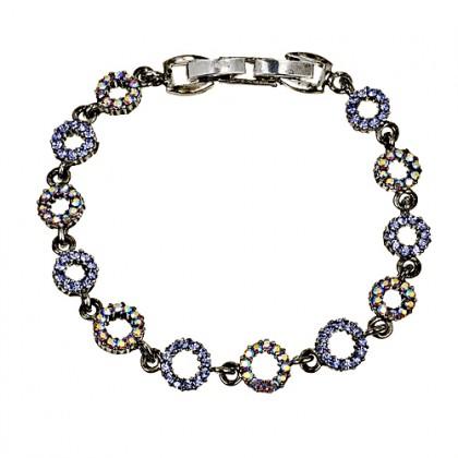 Blue Crystal Circle Bracelet, Tanzanite & AB Tanzanite Swarovski Crystals