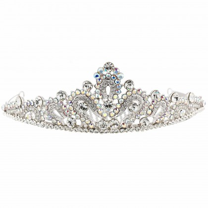 Swarovski Crystal Tiara Fleur de lis, regal