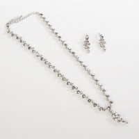 Swarovski Crystal Cluster Drop Necklace and Earrings Set