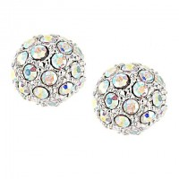 Swarovski AB Crystal 10mm Ball Stud Earrings