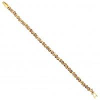 Gold Crystal Tennis Bracelet, Topaz Gold & AB Topaz Gold Swarovski Crystals
