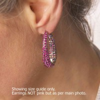 large hooped Swarovski earrings