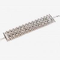 clear crystal bracelet, swarovski crystals