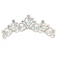 heart and flowers tiara Swarovski Crystal