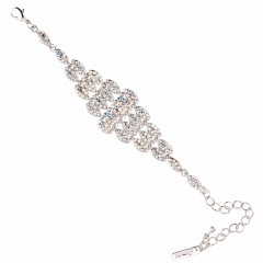 AB & Clear Crystal Bracelet, Diamond Shaped