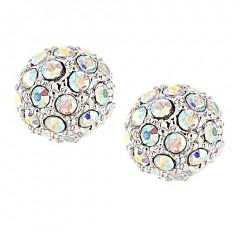 Swarovski AB Crystal 10mm Ball Stud Earrings