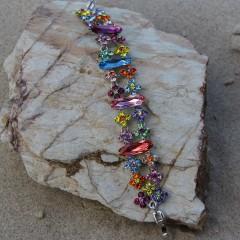 Multi Coloured Swarovski Crystal Bracelet Gemini Jewellery