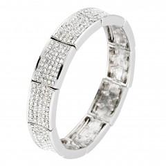 clear Crystal cuff bracelet