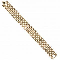 Gold Crystal Linked Bracelet