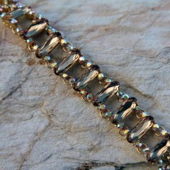 Gold Topaz Swarovski Crystal Bracelet