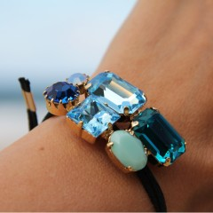 Martine Wester Crystal Craze Blue Bracelet_