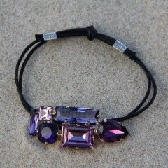 Martine Wester Crystal Craze Purple Bracelet