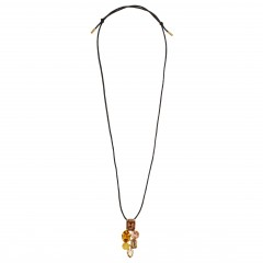 Martine Wester Crystal Craze Topaz Pendant Necklace Limited Edition